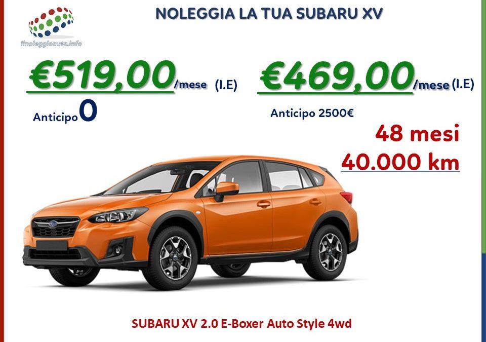 Subaru XV: la moda non alla moda.